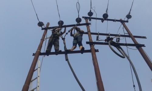 Electric Pole Installation